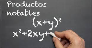Productos notables fórmulas
